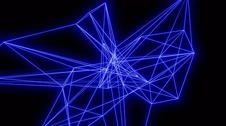 Blue Lines Motion Background. Loopable 3D abstract animation.