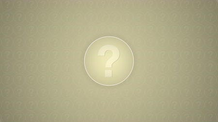 kérdőjel : Question mark inside a circle trasitions in from a low poly circular wipe, placed on a textured background