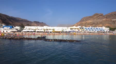 Puerto de Mogan village in Gran Canaria, Spain . Famous touristic destination in Canary islands. Dostupné videozáznamy
