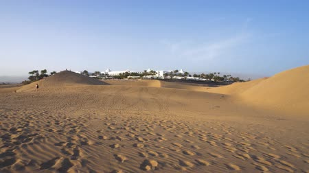 Dunes of Maspalomas in Gran Canaria, Canary islands, Spain.
