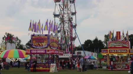 perili : Wide view of the Carnival in full swing Stok Video