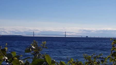 Mackinaw Bridge with fore ground