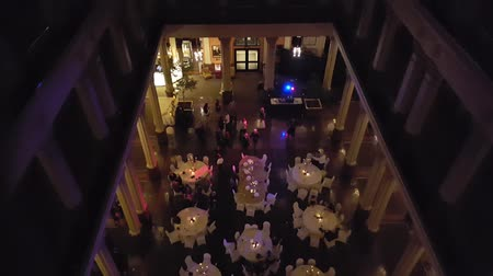 Top Down View Wedding Reception Vetical