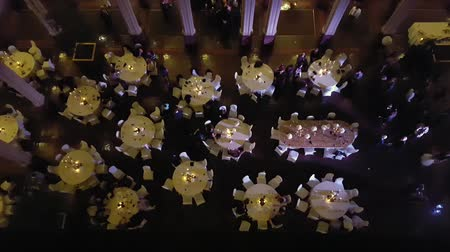 Top View Down of Wedding Reception