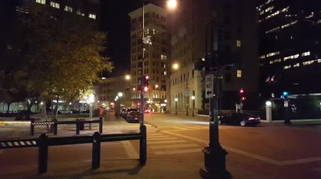 Hand Held Stationary on the Downtown City Corner with Audio
