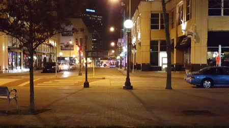 Downtown City Life at Night with audio