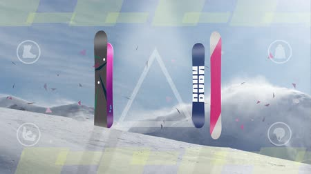 ski board motion background