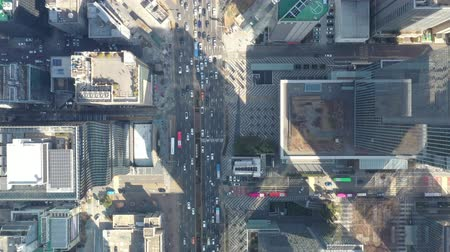 lanscape : a drone shot in downtown Seoul, Korea Stock Footage