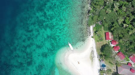 Philippine Beach Shot with drone Stok Video