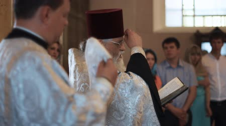 baptized : SAINT-PETERSBURG - JUL 25: Traditional orthodox church wedding