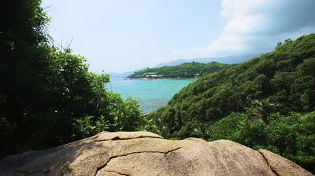 takamaka : high-point Seychelles opening wide viev.