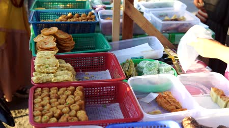 vendor sale Traditional Local cakes at Ramadan Bazaar