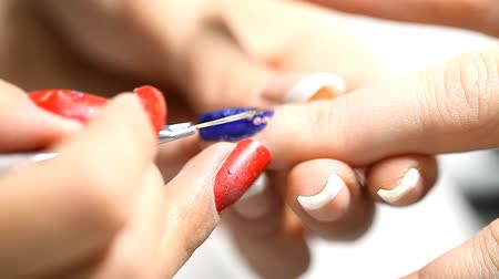 nehet : manicure process, nails, close-up, Dostupné videozáznamy