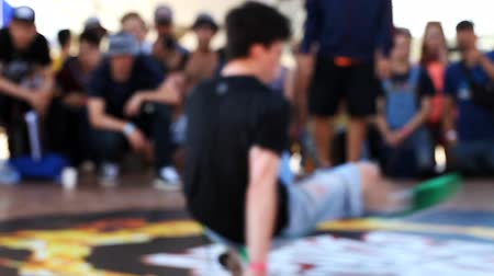 хоп : Break dance competition at the festival