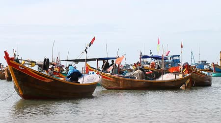 sea port : Tourist Vietnam. Fishing village in Mui Ne