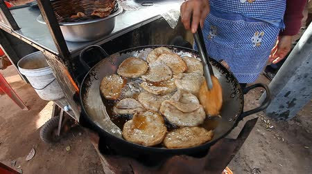infectious : Street food in Cambodia and Asian countries Stock Footage