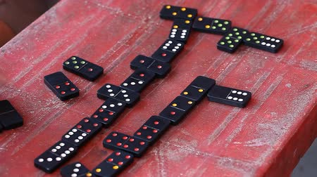 Gambling Vietnamese love to play dominoes Stock mozgókép