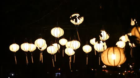 Tourist Vietnam, Hoi An and paper lanterns Стоковые видеозаписи