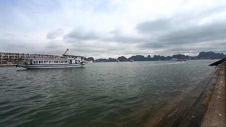 halong : Tourist Vietnam. The amazing bay of Ha Long is a UNESCO heritage