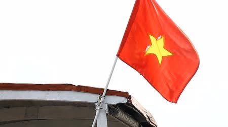 Vietnamese flag close-up