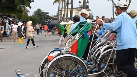 hoi an : Hoi An, Vietnam-December 28,2016: In Hoi An trishaws are very popular with tourists, as traffic in the city on cars and buses is prohibited.