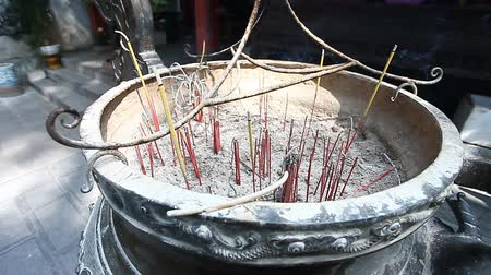 superstition : Buddhism. Aromatic sticks in temples and pagodas of Asia