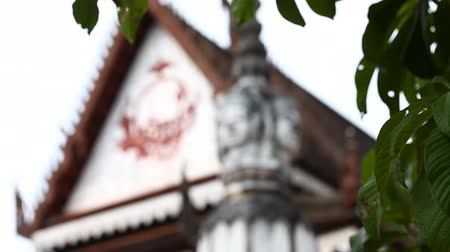Thailand, a Buddhist temple. Details of the traditional Thai temple