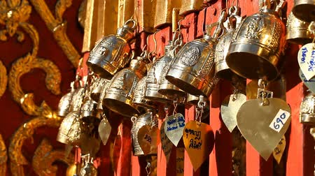 peregrino : Buddhism. Buddhist bells in the temple. Sacred symbol. Traditional Buddhist praying bells