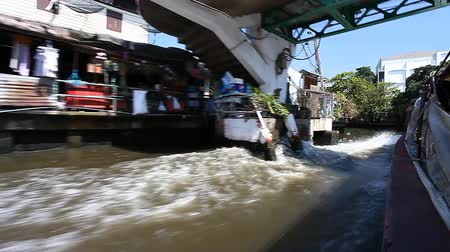 Bangkok. Tourism.Express boats on the canals of Bangkok.East Venice .Water transport