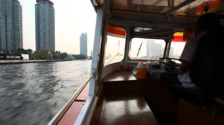 Bangkok. Tourism.Chao Phraya river are a great walking route through the capital of Thailand.