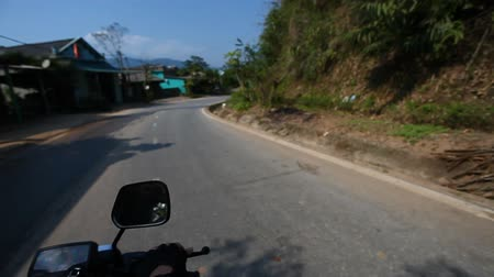 tourer : Wanderlust.A trip on motorbike in Asia. First-person view