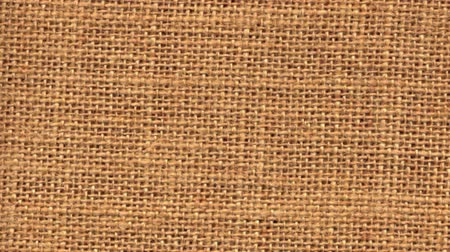 mesh : Zoom out closeup on sackcloth material isolated on white background.