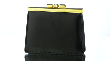 cüzdan : Black Leather Purse