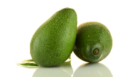 avokado : Avocado fruits on white background.