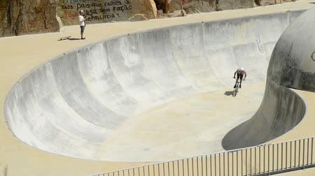 adrenalin : BELMONTE, PORTUGAL - JULY 12, 2014: Miguel Semens from Spain during the The Lost Bowl Event.