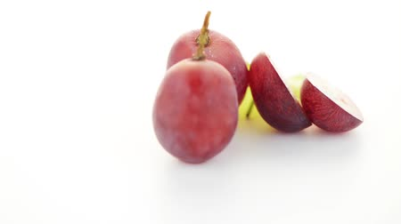 clipping path : Red grape isolated on white background.