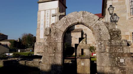 points of interest : BARCELOS, PORTUGAL - CIRCA JAUARY 2019: View at the ruins of Paco dos Condes in Barcelos. The building was destroyed by an earthquake in 1755 and is now an open-air museum.