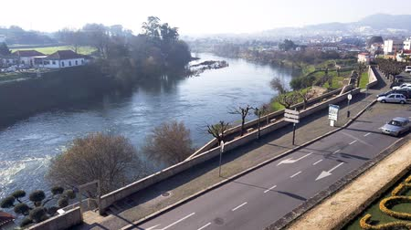 points of interest : BARCELOS, PORTUGAL - CIRCA JAUARY 2019: View from the Barcelos city with Cavado river in Portugal. It is one of the growing municipalities in the country.