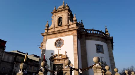 zajímavosti : BARCELOS, PORTUGAL - CIRCA JAUARY 2019: Church Bom Jesus da Cruz in Barcelos. With 60 parishes, it is the municipality with the highest number of parishes in the country. Dostupné videozáznamy