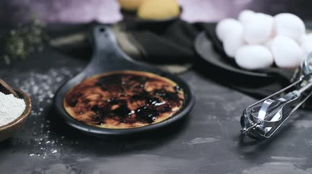 spoons : Leite creme, portuguese desert similar to creme brulee, cream brulee and burnt cream.