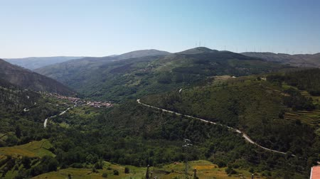 重畳 : Viewpoint of the Terraces (Miradouro dos Socalcos), overlooking the Agricultural terraces (famous Tibete style landscape view), Porta Cova place, Sistelo, Arcos de Valdevez, Portugal. 動画素材