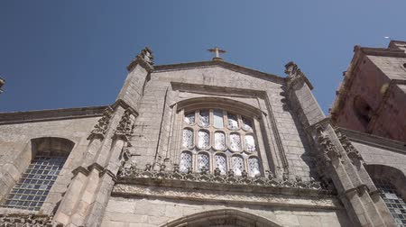 taş işçiliği : Details of the main facade of the Cathedral of Lamego, Portugal.