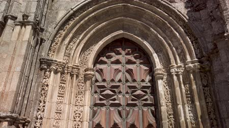 episcopal : Details of the main facade of the Cathedral of Lamego, Portugal.