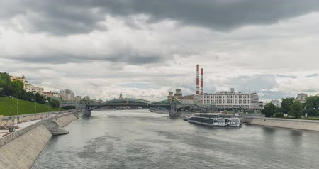 Moscow river with bridge
