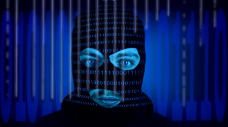 kodeks : Data Thief wearing a hood in a digital world