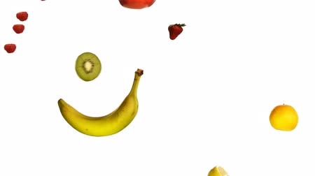 cobra : Loopable fruits animation over a pure white background