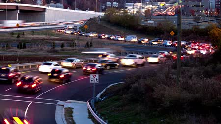 no ramp : Animation from still images of traffic going on the ramp of the Beltway in Tysons Corner in Fairfax County. Stock Footage