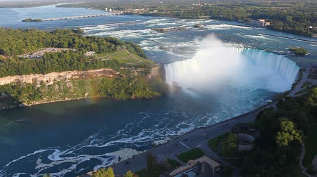 beautiful view : An aerial view of the Horseshoe Falls at Niagara Falls