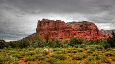 rocks red : 4K UltraHD Timelapse of Bell Rock in Sedona, Arizona Stock Footage