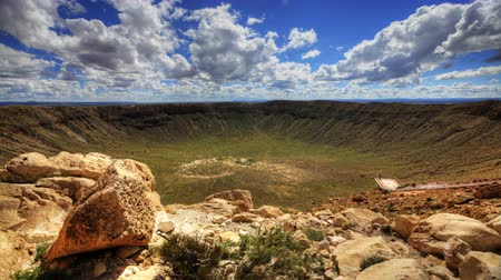 cratere : 4K UltraHD un timelapse a Meteor Crater in Arizona